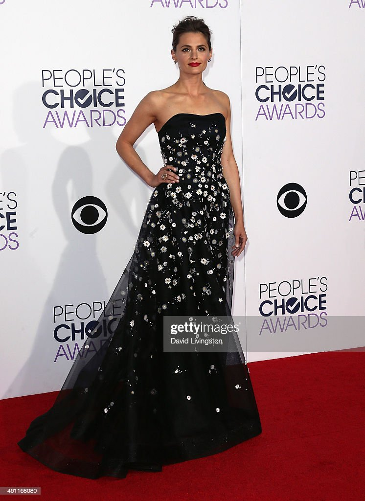 Actress Stana Katic attends the 2015 People's Choice Awards at the Nokia Theatre L.A. Live on January 7, 2015 in Los Angeles, California.
