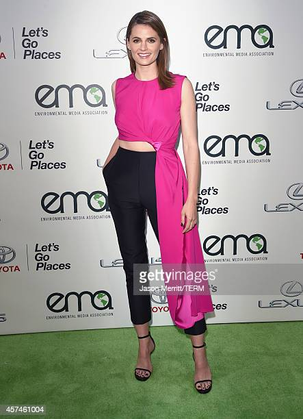 Actress Stana Katic attends the 24th Annual Environmental Media Awards presented by Toyota and Lexus at Warner Bros Studio on October 18 2014 in...
