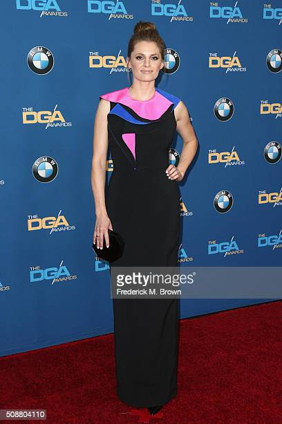 Actress Stana Katic attends the 68th Annual Directors Guild Of America Awards at the Hyatt Regency Century Plaza on February 6 2016 in Los Angeles...