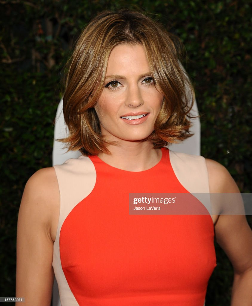 Actress <a gi-track='captionPersonalityLinkClicked' href=/galleries/search?phrase=Stana+Katic&family=editorial&specificpeople=2081035 ng-click='$event.stopPropagation()'>Stana Katic</a> attends the premiere of 'Mandela: Long Walk To Freedom' at ArcLight Cinemas Cinerama Dome on November 11, 2013 in Hollywood, California.