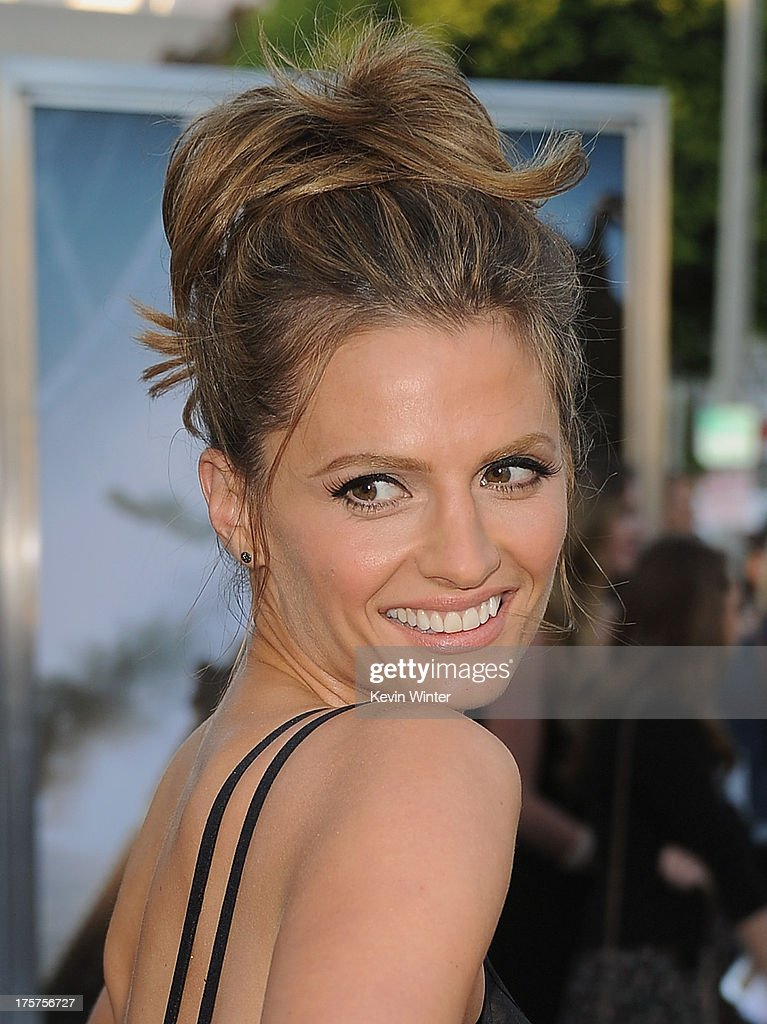 Actress Stana Katic attends the premiere of TriStar Pictures' 'Elysium' at Regency Village Theatre on August 7, 2013 in Westwood, California.