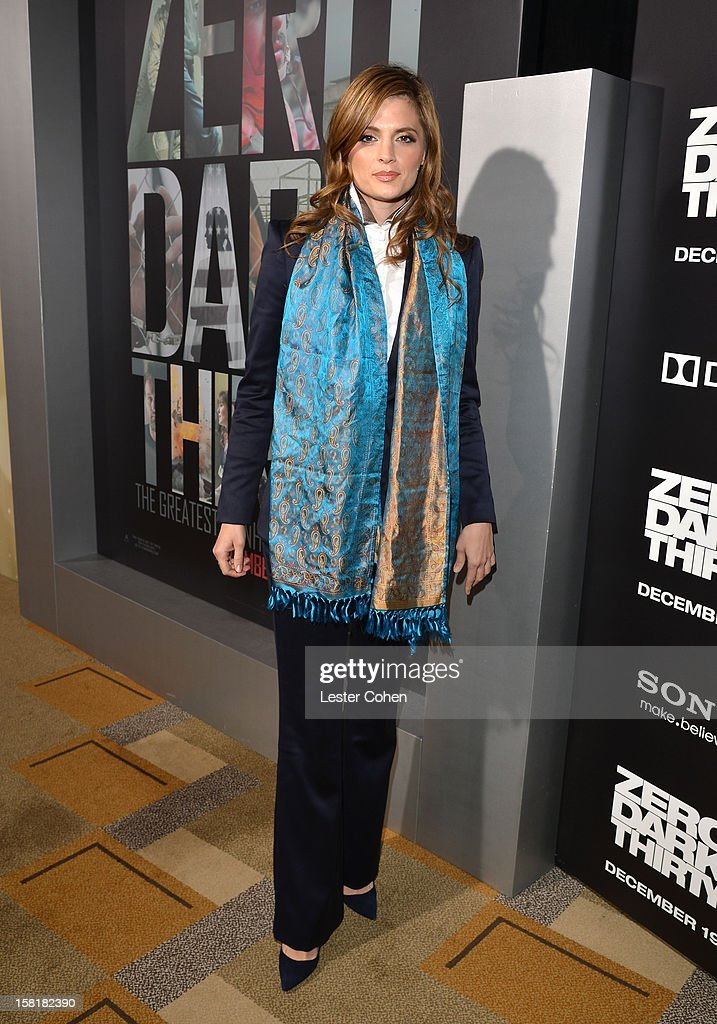 Actress Stana Katic attends the 'Zero Dark Thirty' Los Angeles Premiere at Dolby Theatre on December 10, 2012 in Hollywood, California.