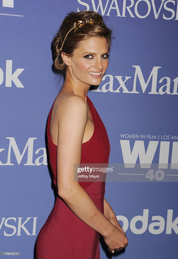 Actress Stana Katic attends Women In Film's 2013 Crystal + Lucy Awards at The Beverly Hilton Hotel on June 12, 2013 in Beverly Hills, California.