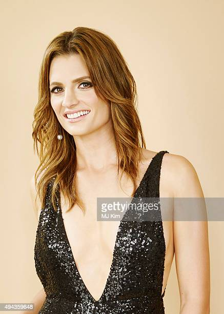 Actress Stana Katic is photographed at the 25th Annual EMA Awards Presented By Toyota And Lexus at Warner Bros Studios on October 24 2015 in Los...