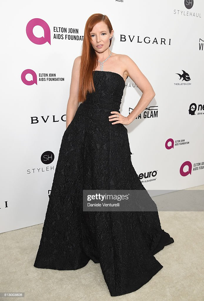 Actress Stef Dawson attends Bulgari at the 24th Annual Elton John AIDS Foundation's Oscar Viewing Party at The City of West Hollywood Park on February 28, 2016 in West Hollywood, California.