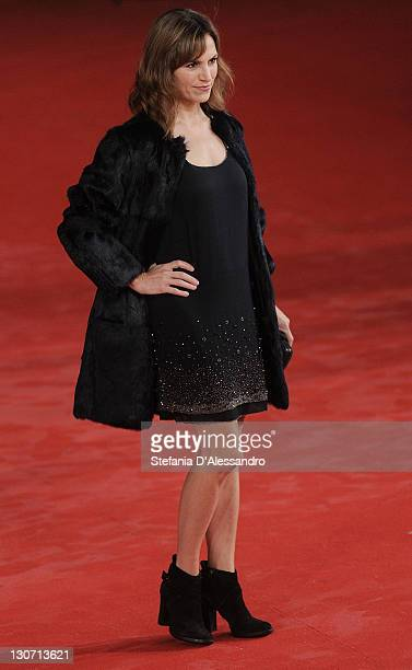 Actress Stefania Montorsi attends 'Il Mio Domani' Premiere on October 28 2011 in Rome Italy