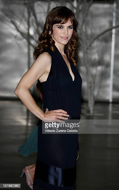 Actress Stefania Montorsi attends the 2010 Convivio held at Fiera Milano City on June 10 2010 in Milan Italy