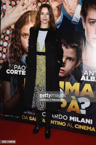 Actress Stefania Rocca attends 'Mamma o Papa' premiere on February 13 2017 in Milan Italy
