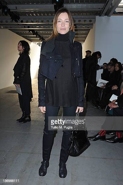 Actress Stefania Rocca attends the Costume National Homme fashion show on January as part of Milan Fashion Week Menswear Autumn/Winter 2012 14 2012...