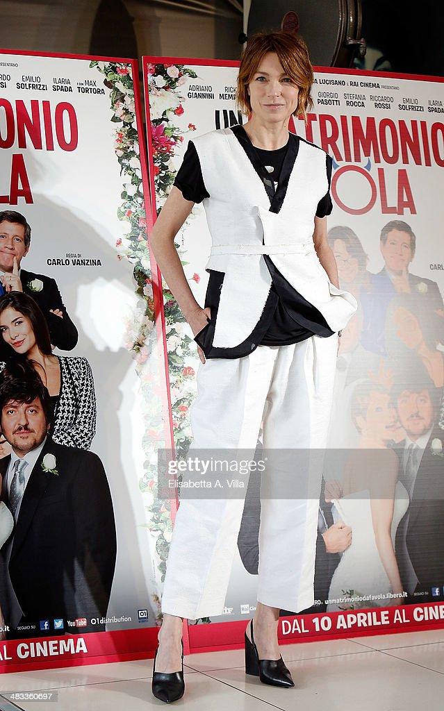 Actress Stefania Rocca attends 'Un Matrimonio Da Favola' photocall at Cinema Adriano on April 8 2014 in Rome Italy