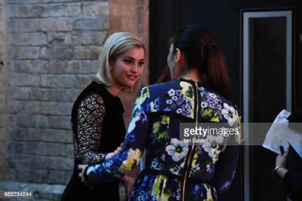 Actress Stefanie Martini and Eleanor Matsuura attend the THREE Empire awards at The Roundhouse on March 19 2017 in London England
