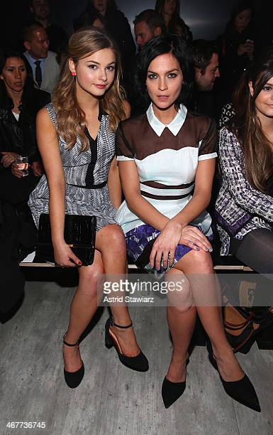 Actress Stefanie Scott and DJ Leigh Lezark of the Misshapes attend the Emerson By Jackie FraserSwan fashion show during MercedesBenz Fashion Week...