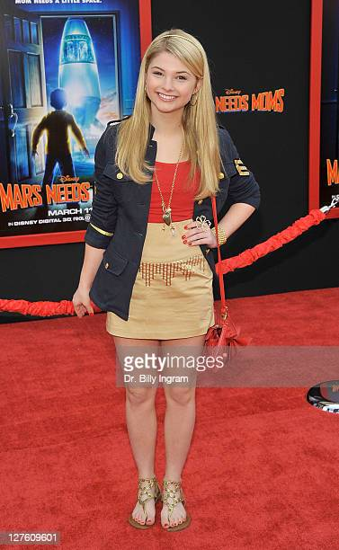 Actress Stefanie Scott arrives at 'Mars Needs Moms 3D' Los Angeles Premiere at the El Capitan Theatre on March 6 2011 in Hollywood California