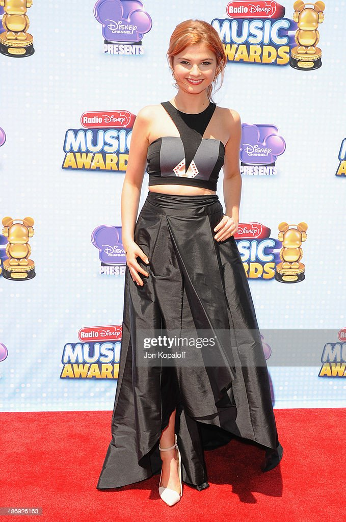 Actress <a gi-track='captionPersonalityLinkClicked' href=/galleries/search?phrase=Stefanie+Scott&family=editorial&specificpeople=5781540 ng-click='$event.stopPropagation()'>Stefanie Scott</a> arrives at the 2014 Radio Disney Music Awards at Nokia Theatre L.A. Live on April 26, 2014 in Los Angeles, California.