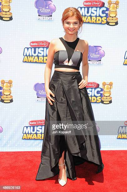 Actress Stefanie Scott arrives at the 2014 Radio Disney Music Awards at Nokia Theatre LA Live on April 26 2014 in Los Angeles California