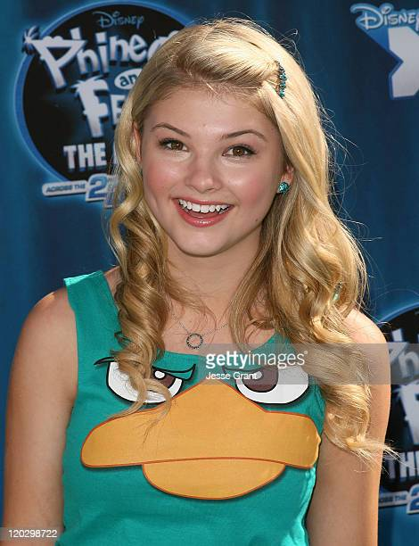 Actress Stefanie Scott arrives at the premiere of 'Phineas and Ferb Across The 2nd Dimension' at the El Capitan Theatre on August 3 2011 in Hollywood...