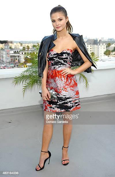 Actress Stefanie Scott attends Teen Vogue x Simon BTSS Kickoff Dinner on August 5 2015 in Los Angeles California