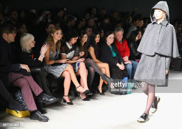 Actress Stefanie Scott DJ Leigh Lezark of The Misshapes singersongwriter Jacquie Lee and actress Diane Guerrero attend the Emerson By Jackie...