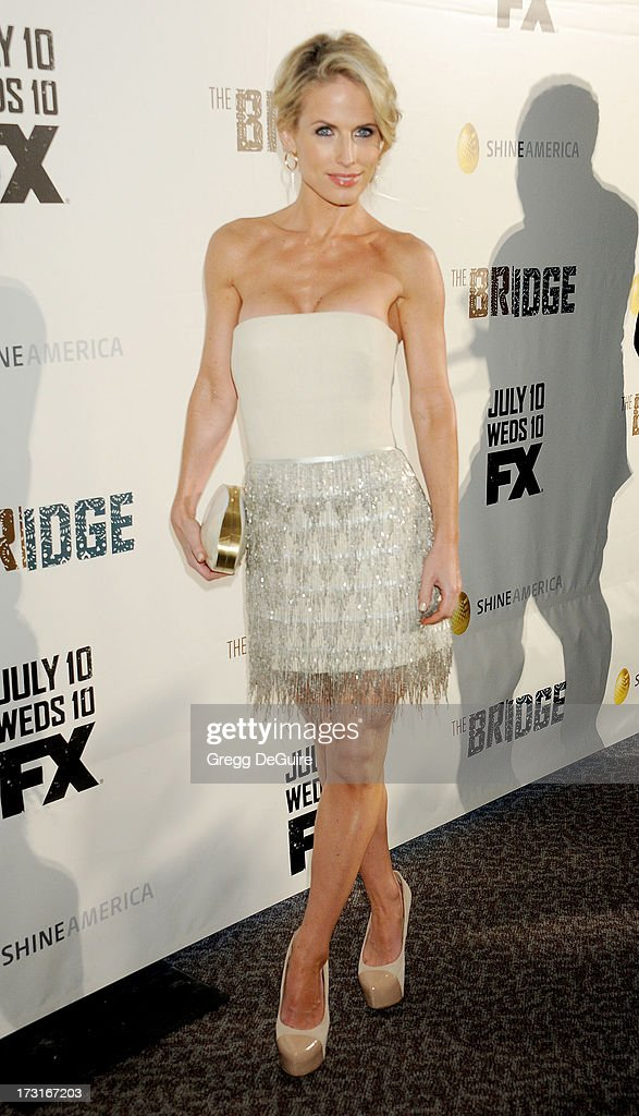 Actress Stefanie Sherk arrives at the series premiere of FX's 'The Bridge' at DGA Theater on July 8, 2013 in Los Angeles, California.