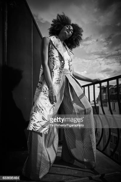 Actress Stefi Celma is photographed for Madame Figaro on September 20 2016 in Paris France Coat tank top pants bangles CREDIT MUST READ Fe...