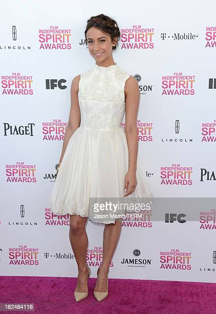 Actress Stella Maeve attends the 2013 Film Independent Spirit Awards at Santa Monica Beach on February 23 2013 in Santa Monica California