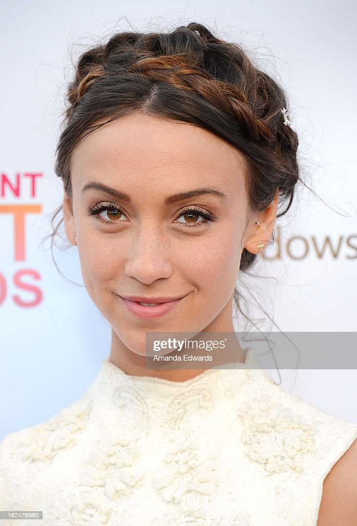Actress <a gi-track='captionPersonalityLinkClicked' href=/galleries/search?phrase=Stella+Maeve&family=editorial&specificpeople=3957724 ng-click='$event.stopPropagation()'>Stella Maeve</a> attends the 2013 Film Independent Spirit Awards after party at The Bungalow at The Fairmont Hotel on February 23, 2013 in Santa Monica, California.