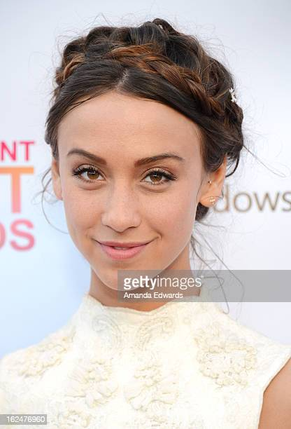 Actress Stella Maeve attends the 2013 Film Independent Spirit Awards after party at The Bungalow at The Fairmont Hotel on February 23 2013 in Santa...