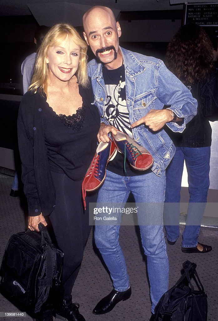 Actress Stella Stevens and musician Bob Kulick attend Gene Simmons' 44th Birthday Party on August 29 1993 at The Sports Center in Century City...