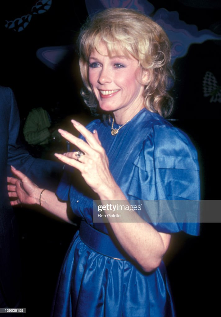 Actress Stella Stevens attends the 'Flamingo Road' Final WrapUp Party on April 18 1982 at The China Club in West Hollywood California
