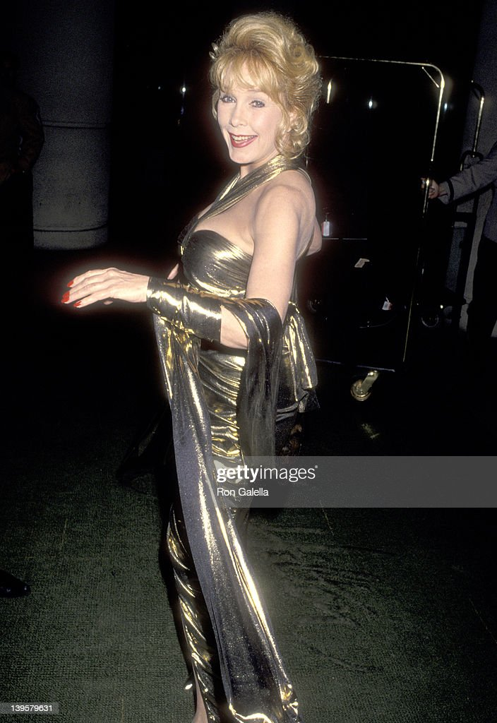 Actress Stella Stevens attends the John Wayne Cancer Institute Auxiliary's 10th Annual Odyssey Ball to Salute Dr Donald L Morton on April 9 1994 at...