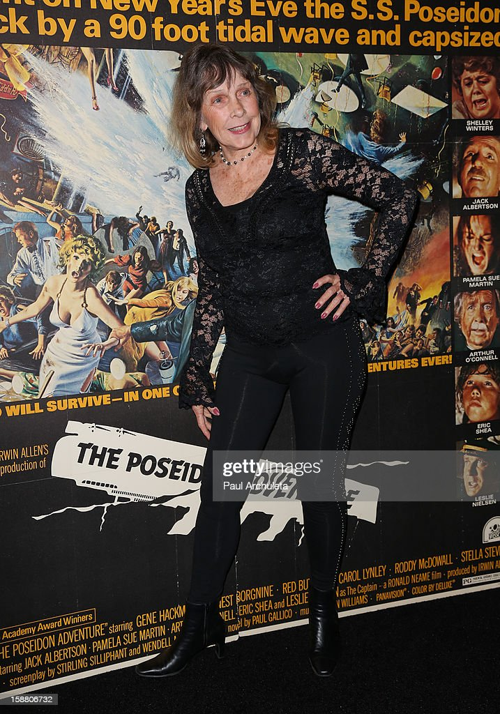 Actress <a gi-track='captionPersonalityLinkClicked' href=/galleries/search?phrase=Stella+Stevens&family=editorial&specificpeople=214015 ng-click='$event.stopPropagation()'>Stella Stevens</a> attends the screening for the 40th Anniversary of 'The Poseidon Adventure' at the American Cinematheque's Egyptian Theatre on December 29, 2012 in Hollywood, California.