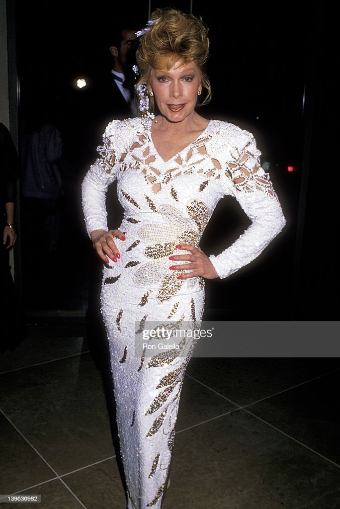 Actress Stella Stevens attends the Sixth Annual Soap Opera Digest Awards on January 14 1990 at Beverly Hilton Hotel in Beverly Hills California