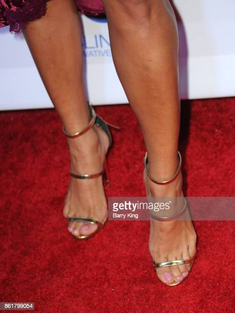 Actress Stephanie Ballena shoe detail attends the 17th Annual 'Les Girls' at Avalon on October 15 2017 in Hollywood California