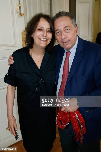 Actress Stephanie Bataille and Director of Communication and Cooperative Life at the Caisse d'Epargne Thomas Levet attend the 'Caisse d'Epargne...