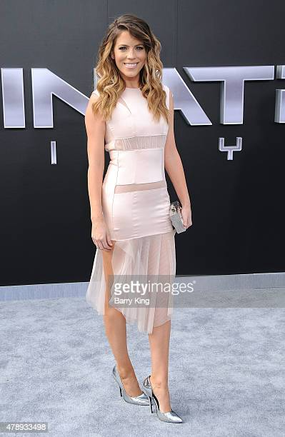Actress Stephanie Bauer arrives at the Los Angeles premiere of 'Terminator Genisys' at the Dolby Theatre on June 28 2015 in Hollywood California