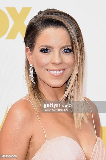Actress Stephanie Bauer attends the 67th Annual Primetime Emmy Awards at Microsoft Theater on September 20 2015 in Los Angeles California