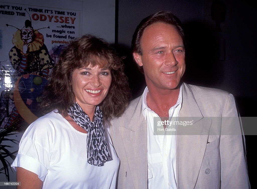 Actress Stephanie Beacham and actor Christopher Cazenove attend the 'Run for Your Wife' Opening Night Play Performance on October 8 1992 at the...