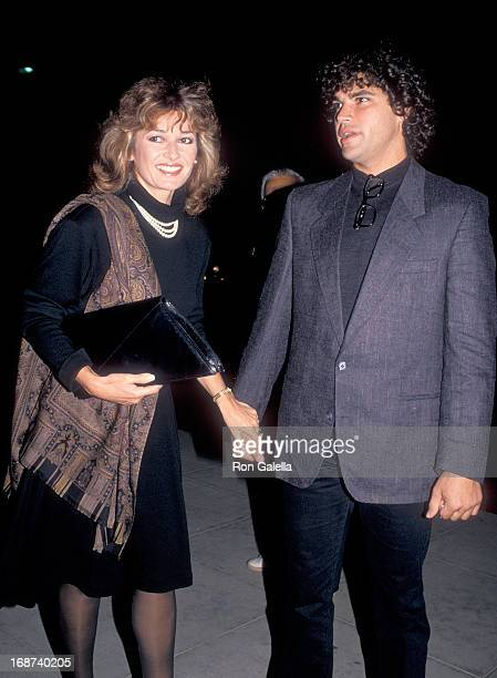 Actress Stephanie Beacham and boyfriend Steve Silver attend the Screening of the TNT MadeforTelevision Movie 'A Man for All Seasons' on November 5...