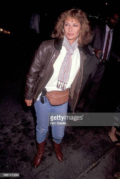 Actress Stephanie Beacham attends Herb Ritts' 39th Birthday Party on August 10 1991 at a converted warehouse in Culver City California