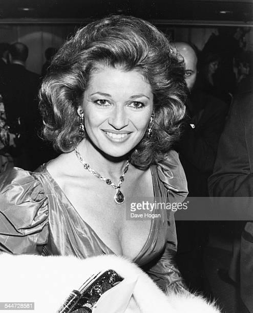 Actress Stephanie Beecham at the BAFTA Awards London March 23rd 1987