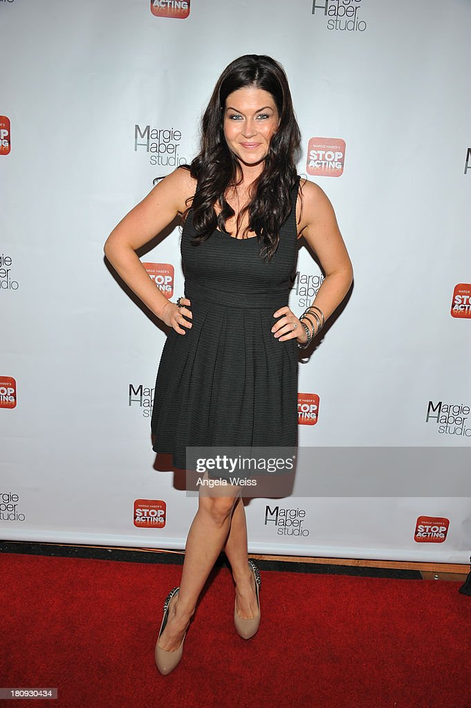 Actress Stephanie Beran arrives at Margie Haber Studio's 'Stop Acting App: The Audition Class with Margie Haber' release launch party at Aventine Hollywood on September 17, 2013 in Hollywood, California.