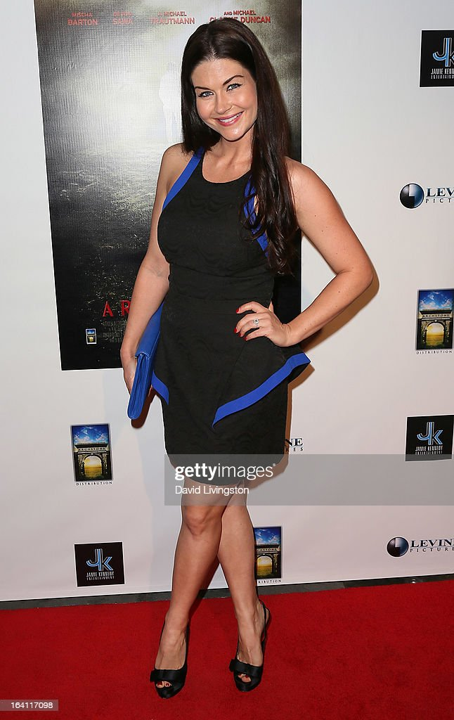 Actress Stephanie Beran attends the premiere of 'A Resurrection' at ArcLight Sherman Oaks on March 19, 2013 in Sherman Oaks, California.