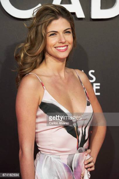 Actress Stephanie Cayo attends 'Las Chicas Del Cable' premiere at the Callao cinema on April 27 2017 in Madrid Spain