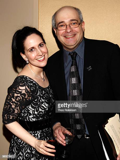 Actress Stephanie D' Abruzzo and Craig Shemin attend the 62 Annual Writers Guild Awards Arrivals Cocktail Party at the Millennium Broadway Hotel on...