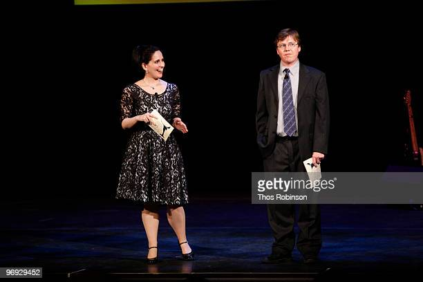 Actress Stephanie D' Abruzzo and guest attend the 62 Annual Writers Guild Awards Show at the Millennium Broadway Hotel on February 20 2010 in New...