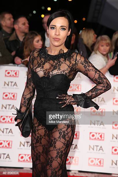 Actress Stephanie Davis of 'Hollyoaks' attends the National Television Awards at 02 Arena on January 21 2015 in London England