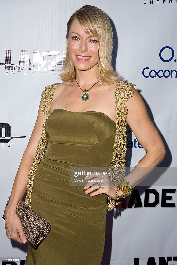 Actress Stephanie Drapeau attends the Los Angeles premiere of 'Comrades' on June 27, 2013 in Los Angeles, California.