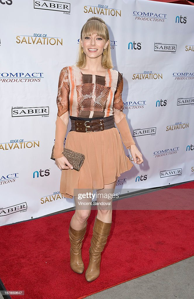 Actress Stephanie Drapeau attends the Premiere Of 'Edge Of Salvation' at ArcLight Cinemas on December 6, 2012 in Hollywood, California.