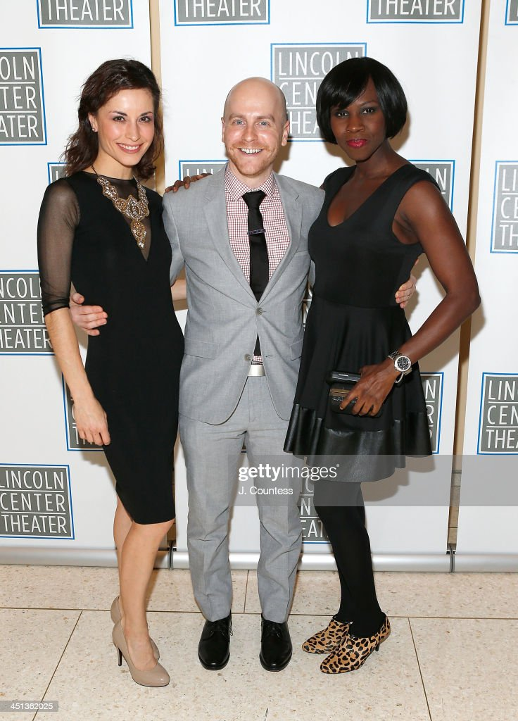 Actress Stephanie Fieger, Associate director Benjamin Klein and actress Shirine Babb attend the afterparty for the opening night of 'Shakespeare's Macbeth' at Avery Fisher Hall, Lincoln Center on November 21, 2013 in New York City.