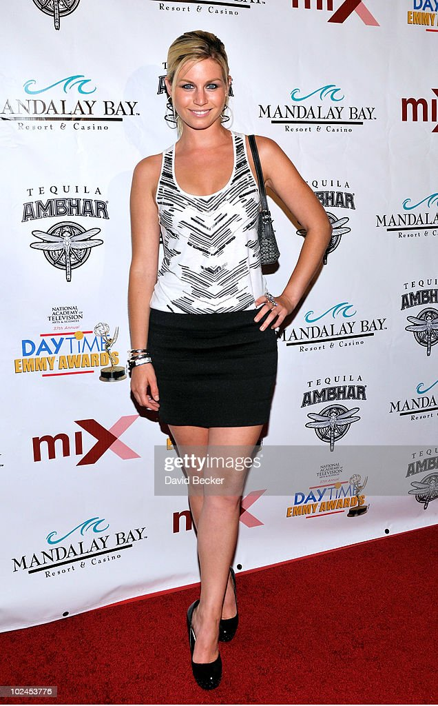 Actress Stephanie Gatschet arrives at the official pre-party for the 2010 Daytime Entertainment Emmy Awards at Mix at THEhotel at Mandalay Bay on June 26, 2010 in Las Vegas, Nevada.